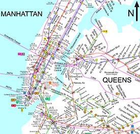 New York City Bus And Subway Map.Transportation And Public Transit An Online Lesson Public